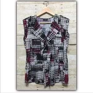 Tempted sleeveless printed blouse approx. size M
